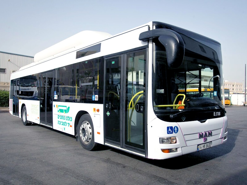 For the first time in Israel: compressed natural gas (CNG) bus